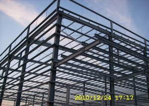 China Benin multi-span steel workshop building with big cannopy and parapet on sale