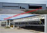 Vertical Bi Folded Hangar Door Solution Light Steel Single Panel Hydraulic Airplane Door System