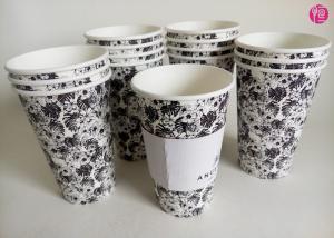 China Single Wall 16oz Hot Tea coffee takeaway cups Custom Paper Sleeve on sale