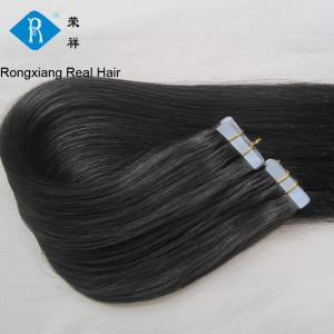 China wholesale factory price double drawn human hair silky straight black tape hair extension on sale