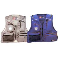 Blue / Red Marine Life Jackets Fly Fishing Life Vest For Lure Fishing