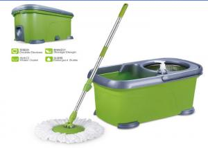 China Double Functions Foot Pedal 360 Spin Mop Whirl Mop With Microfiber Heads on sale