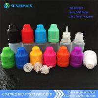 3ml LDPE e-liquid bottle, plastic bottle with child proof and tamper evident cap