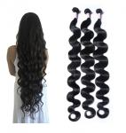 30 Inch Body Wave Long Indian Human Hair Weave 100 Grams / Piece