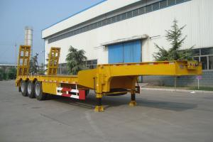 China CIMC 60ton Gooseneck 3 Axle Low Bed Heavy Duty Semi Trailer for sale on sale
