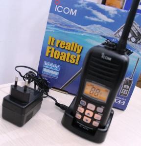 China VHF Marine 2 way radios ic-m33 icom walkie talkie reviews on sale