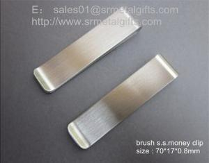 China Brushed stainless steel money clips, wholesale custom polish steel money clips, on sale