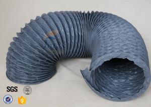 China Flexible PVC Coated Fiberglass Fabric Air Duct , PVC Fiber Glass Hose on sale
