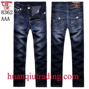 China Venda o desgaste de homens grande fraco das jardas da fé verdadeira americana da calças das calças de brim do TR da Buda da rocha marcado on sale