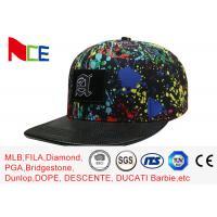China Paint - Splashing Style Womens Snapback Hats , Colorful Hip Hop Snapback Caps on sale