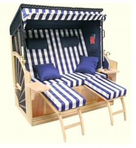 China All Weather Waterproof Roofed Wicker Beach Chair & Strandkorb For Garden on sale