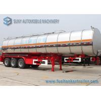 China 44 m3 Stainless Steel Asphalt Tanker Trailer Tri Axle Steam Heat  Bitumen Tanker on sale