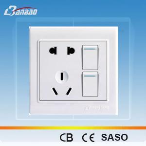 China LK4020 2gang+ 2pole + 3pin light switch socket on sale