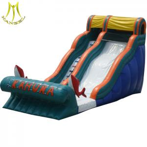 China Hansel   2018 new design inflatable trampoline park  inflatable bounce with slide on sale