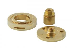 China Custom Made Brass Stainless Steel CNC Maching Parts Turning Washer Connectors on sale