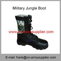 China Wholesale Cheap China Full Grain Leather Rubber Sole Camouflage Army Jungle Boot on sale