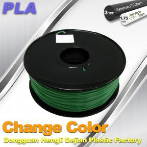 China 1.75 / 3.0mm 3D Printing PLA Filament , Color Changing Filament  Blue Green to Yellow Green on sale