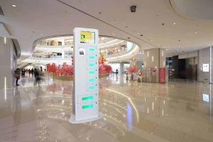 China Floor Standing Cell Phone Charging Stations With Remote Platform And Differnt Payment Devices on sale