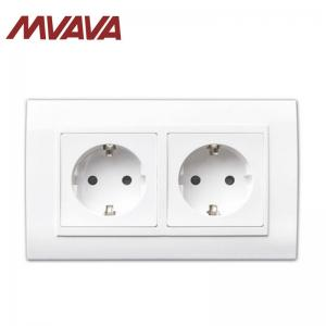 China MVAVA EU Standard Wall Socket with Double Frame Electric Socket for Home PC  Panel Socket on sale