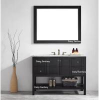 Soft Closing 48 Inch Wood Bathroom Vanity Free Standing With Mirror And Cabinet