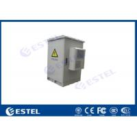China 13U Outdoor Communication Cabinets Galvanized Steel Pole Mount With One Front Door on sale