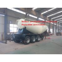 3 Axle SINOTRUK Bulk Cement Tank Trailer Truck With 55-65CBM Weichai Engine And Bohai Air Compressor