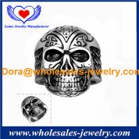 Wholesales fashion luxury jewelry for Vintage Skull 316L Ring Mysterious pattern Exquisite Jewelry.