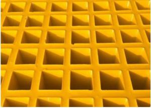China High Strength Fiberglass Walkway Grating , Grey Concave Surface FRP Molded Grating on sale