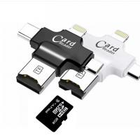 4 In 1 Type - C Lightningusb Micro Sd Card Reader , USB 2.0 Sd Memory Card Reader