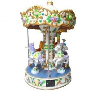 China Four Players Carousel Kiddie Ride With Coin Operated , Music HR-QF002 on sale