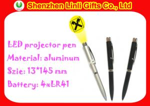 China Customized 0.1-3m Best Distance Led Logo Projector Pen with Light , Blue / Black Ink Color on sale