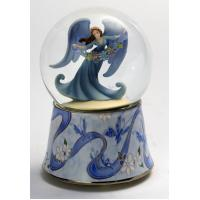 Beautiful ceramic Water/Snow Globes music boxes with angel in the ball