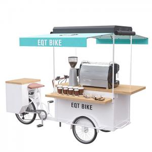 China Multi Functional Outdoor Coffee Bike Cart Pure Steel Body With Spraying on sale