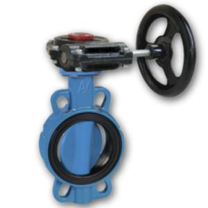 China Worm gear operated 4 ANSI groove butterfly valve on sale