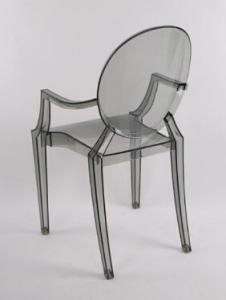 Quality Plastic Ghost Event Rent Wedding Stackable Restaurant Dining Chair in Clear for sale