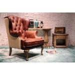 muebles antiguos de cuero de la silla del estilo, #727