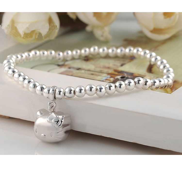 5mm Sterling Silver Beads Bracelet With
