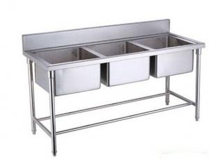 ... Quality Single / Double / Triple Bowl Commercial Stainless Steel Sinks  For Cold / Freezing Room ...