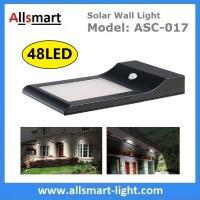 China 9W 48LED 850LM Sensitive Motion PIR Sensor Solar Power Corner Lamp LED Light Wall Light Stairway Garden Outdoor Lighting on sale