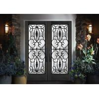 Professional Iron Glass Entry Doors For Building Sound Insulation