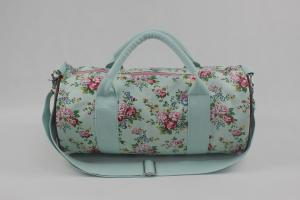 China Canvas Weekend Travel Bag Ladies Large Capacity Floral Pattern For Holiday on sale