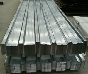 China SPCC DX51D+Z Corrugated Steel Roofing Sheets Galvanized Steel Al-Zinc Coatedor 1.5mm on sale
