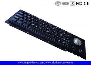 China 63 Keys Mechanical Black metal Industrial Keyboard With Trackball For Panel Mount on sale