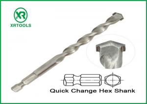 China Hex Shank Long Masonry Drill Bit Sand Blasted Durable Carbon Steel Material on sale