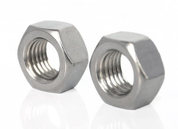 Plain Finish Metric 316 Stainless Steel Hex Nut M24-3 Thread Size 36 mm Width Across Flats DIN 934 19 mm Thick