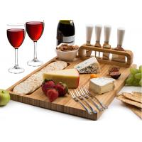 Customized Bamboo Cheese Knife And Cutting Board Set Formaldehyde Free