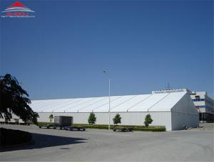 China Tear Resistant Industrial Storage Tents With Double PVC - Coated Polyester Textile Fabric Cover on sale