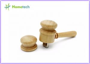 China Hammer Shaped Wooden USB Flash Drive 30PCS Custom Logo Laser / Engraved on sale