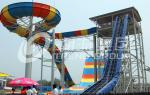 Colorful FPR Large Water Slides Attractive Bommerang for Giant Outdoor Water Park