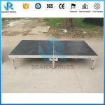 Stage Church Light Aluminum Work Folding Stage Plywood Stage Decoration For Hotel And Training Centre
